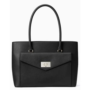 Kate Spade Large Black Leather Halsey Tote NWT